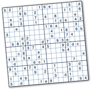 Hexadecimal Sudoku Puzzles by Krazydad